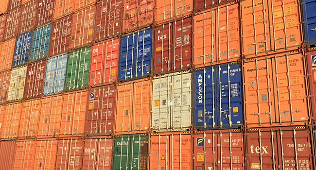 trade goods shipping container